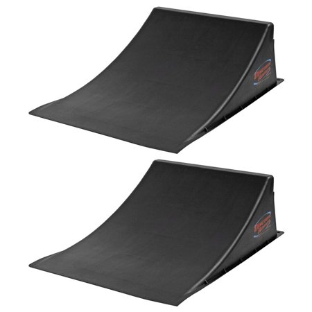2 Pack Skateboard BMX Freestyle Ramp To Launch Bundle