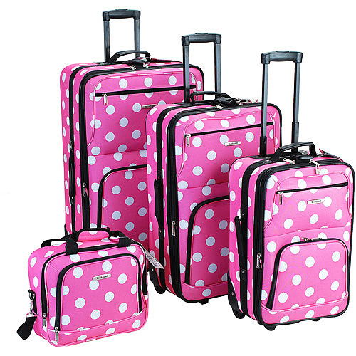 Rockland Luggage Galleria 4 Piece Expandable Luggage Set, Multiple ...