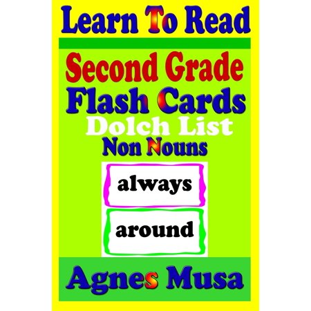 Second Grade Flash Cards: Dolch List Non Nouns - (2nd Grade Dolch Sight Words Flash Cards)