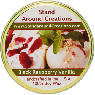 BLACK RASPBERRY VANILLA TUREEN 11-OZ. ALL NATURAL SOY CANDLE