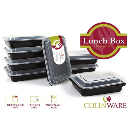 culinware lunch box food storage container with lid lunch tray meal prep portion control. Black Bedroom Furniture Sets. Home Design Ideas