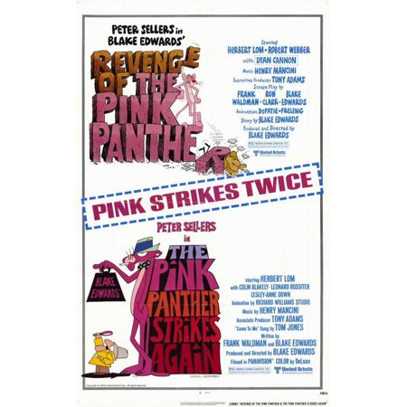 Pink Panther Strikes Again/Revenge of Pink Panther POSTER Movie Mini - Pink Movie Com