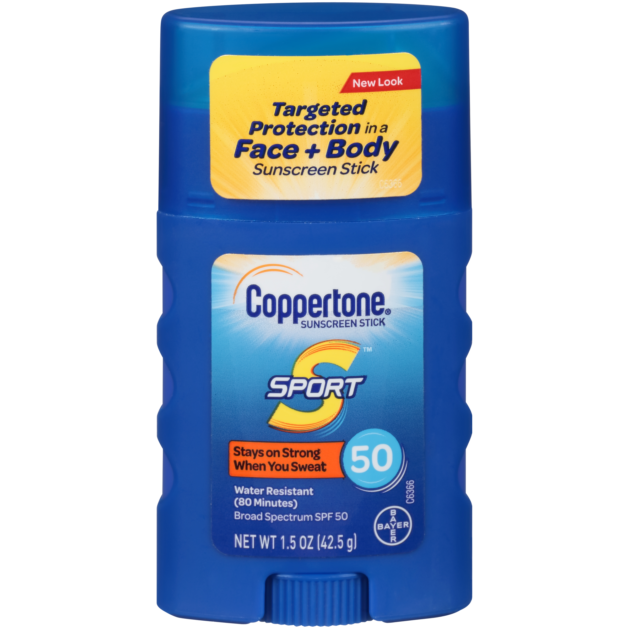 Coppertone Sport Sunscreen Stick SPF 50, 1.5 oz Travel Size