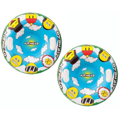 Airhead Emoji Gang Inflatable Snow Tube 1 rider - Winter Sledding 2 Pack - image 3 of 3