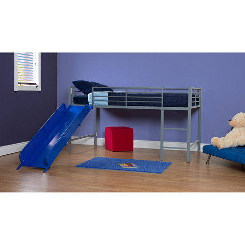 DHP 5513198 Junior Loft with Slide, Silver & Blue