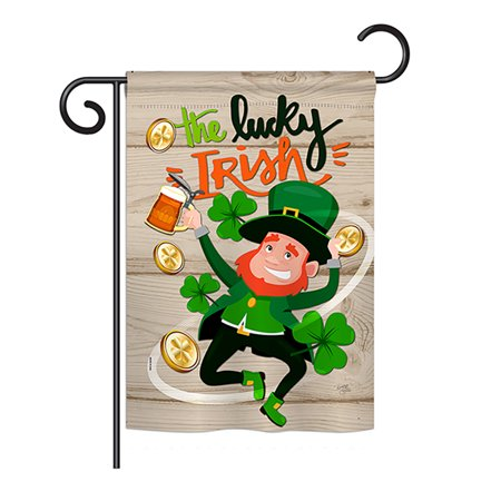 Breeze Decor G152059-BO The Lucky Irish Spring St Patrick Impressions Decorative Vertical 13