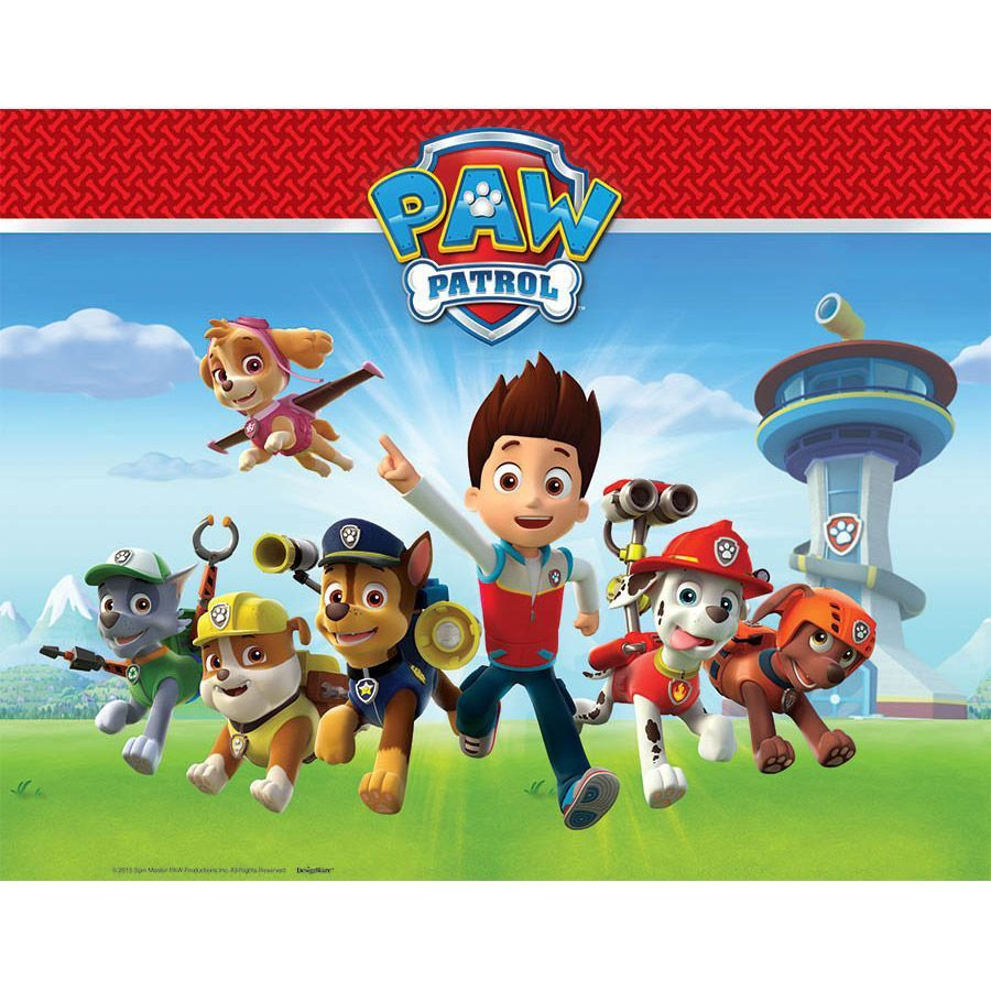 Paw Patrol Party Supplies 2 Pack Tablecovers