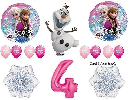 Frozen Pink 4th Disney Movie BIRTHDAY PARTY Balloons