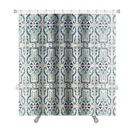 - Gear New Alpha Medieval Tiles with Traditional Islamic Pattern Premium Single Shower Curtain