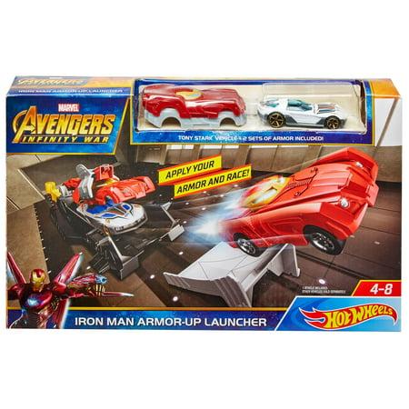 Marvel Hot Wheels Iron Man Armor-Up Launcher