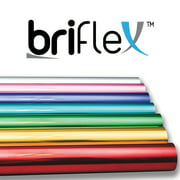 "BriFlex Heat Transfer Metalic Foil Vinyl for T-Shirt and Apparel 20"" x 3' Iron on HTV-BROWN"