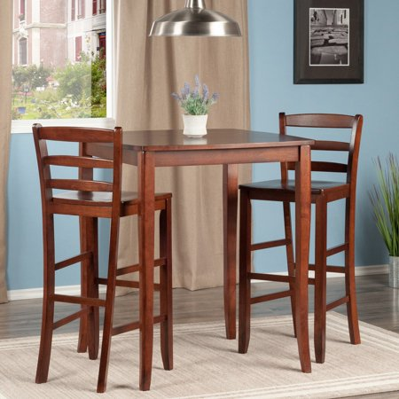 3 Pc Inglewood High Pub Dining Table With Ladder Back Stool