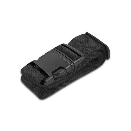 HeroFiber Black Luggage Belts Suitcase Straps Adjustable and Durable, Travel Case Accessories, 1