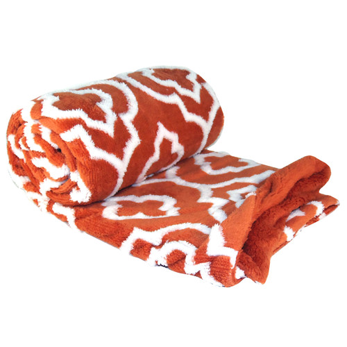 BOON Throw & Blanket Jacquard Sherpa Throw Blanket by Overstock