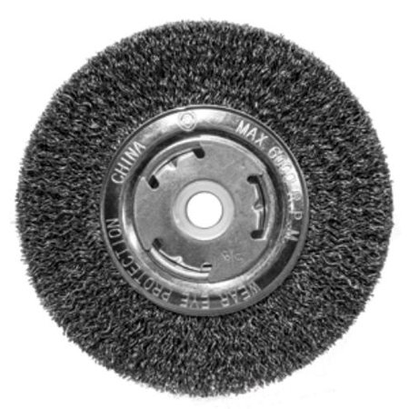 """CENTURY DRILL AND TOOL 76854 Bench Grinder Crimped Wire Wheel, 5"""" Coarse"""