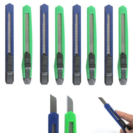 Snap Off Circle Cutter (8 Knife Utility Box Cutter Retractable Snap Off Lock Razor Sharp Blade Tool !!)