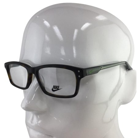 Nike 7231 200 Matte Havana Green Plastic Eyeglasses 53mm