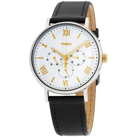 Men's Southview 41 Multifunction Black/White Watch, Leather - Multi Strap Watch