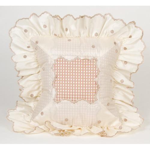 Glenna Jean Madison Dot with Ruffle Throw Pillow