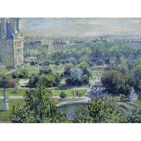 Art Oil Painting Impressionist Landscape - View of the Tuileries Gardens, Paris, 1876 Impressionist Landscape Painting Print Wall Art By Claude Monet