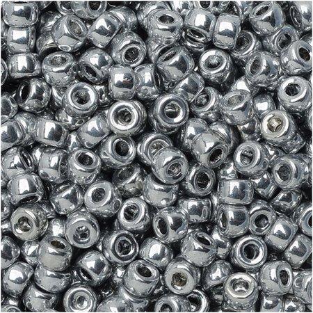 Tube Czech Glass Beads - Czech Glass Matubo, 8/0 Seed Bead, 8 Gram Tube, Crystal Full Labrador