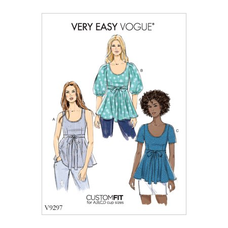 78bf748fb5 Vogue Patterns Sewing Pattern Misses' Top-16-22 - Walmart.com