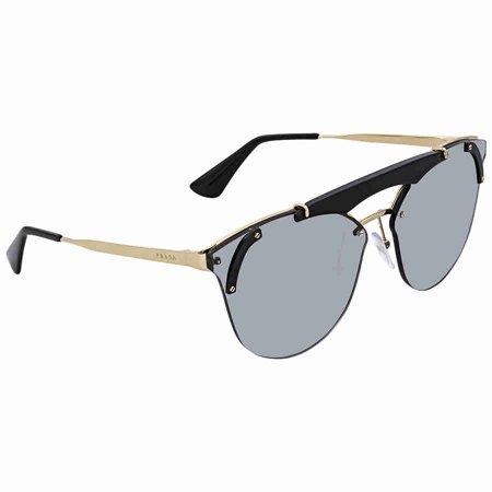 Prada PR 53US 1AB3C2 Pale Gold/ Black  Cat eye Sunglasses