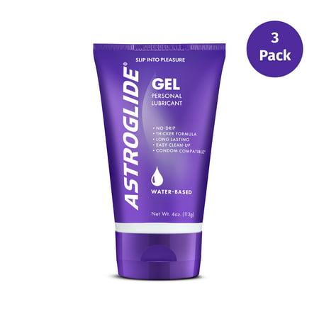 (3 Pack) Astroglide Personal Water Based Lubricant Gel - 4