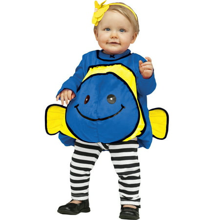 Dora Toddler Costume (Blue Dory Giddy Goldfish Infant Costume 24Mn Infant Fish Bunting)