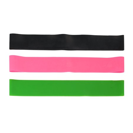 3PCS Sports Exercise Resistance Loop Bands Set Elastic Booty Band Set for Legs and Strength