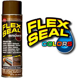 As Seen on TV Flex Seal Spray on Rubber, Brown, 14 oz