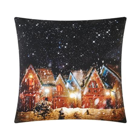 Mainstays Winter Wonderland LED Light Up Throw Pillow (Winter Wonderland Decor)