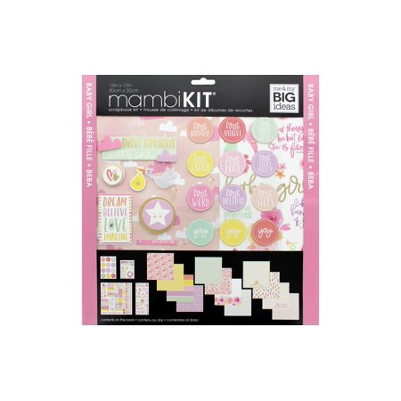 MAMBI Scrapbook Kit 12x12 Baby Girl - Scrapbook Page Ideas For Halloween