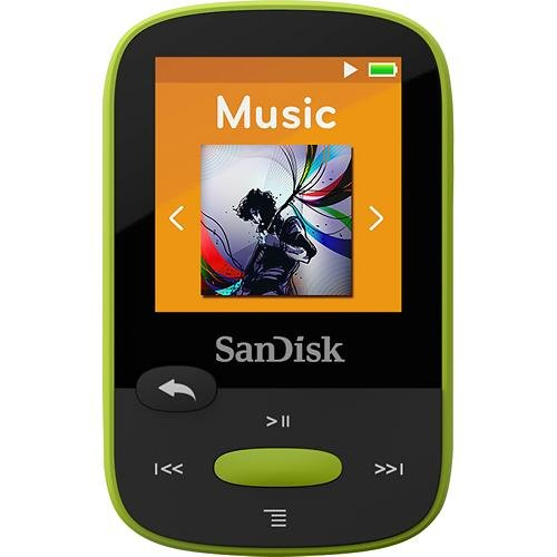 Sandisk Clip Sport SDMX24-008G 8 GB Flash MP3 Player - Lime SDMX24-008G-A46L