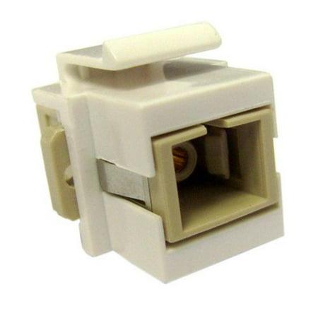 CableWholesale 30SC-SC400 Keystone  White  SC Fiber Optic Network Coupler ()