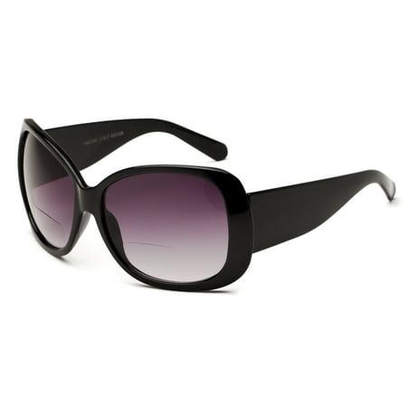 53f53e5a39b4 Readers.com The Hadley Bifocal Sun Reader +1.00 Black Womens Cat Eye Reading  Sunglasses - Walmart.com
