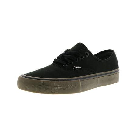 397be7edfc85 Vans - Vans Men s Authentic Pro Canvas Black   Gum Ankle-High Skateboarding  Shoe - 12M - Walmart.com