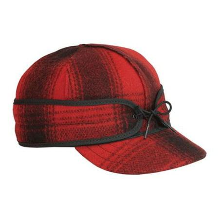 Stormy Kromer The Original Stormy Kromer Cap, Red/Black Plaid, 7 1/2, 50010-0000