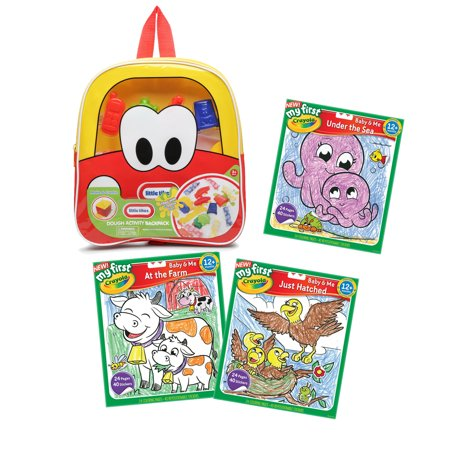Make & Create Dough Activity and Coloring Pack with Red & Yellow - Coloring Backpack