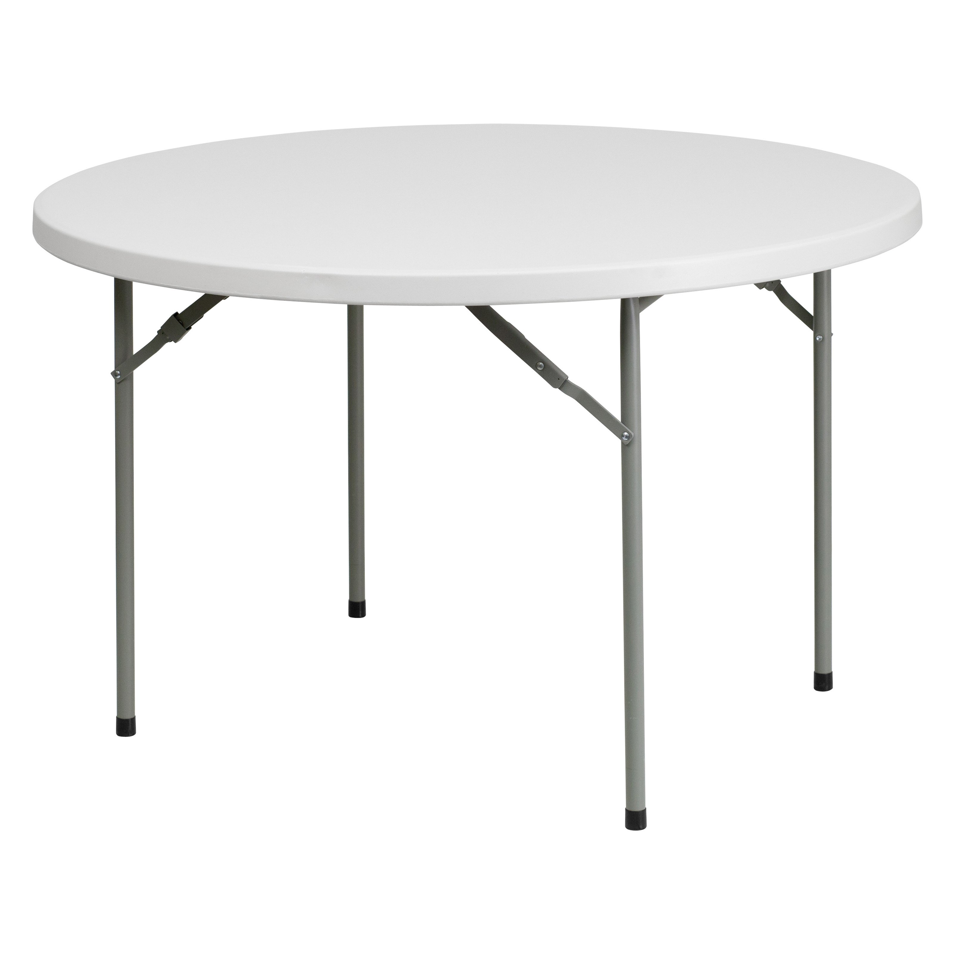 Flash Furniture 48'' Round Granite White Plastic Folding Table by Flash Furniture