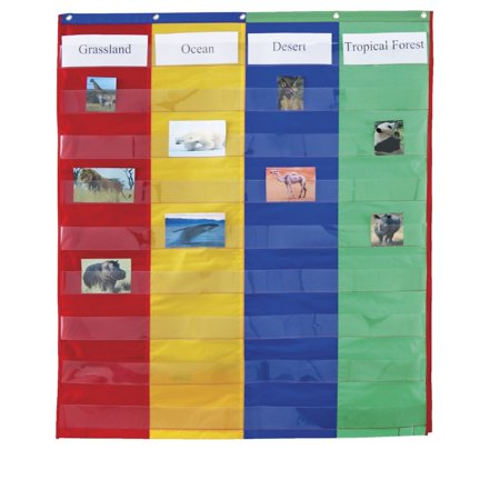 2 And 4 Column Double Sided Pocket Chart (Column Chart With Two Sets Of Data)