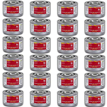 Chafing Dish (Sterno) Fuel Cans – Includes 24 Ethanol Gel Chafing Fuel Can, Burns for 2 Hours (6.43 OZ) for your Cooking,s Smore Food Warmer, Buffet and Parties.