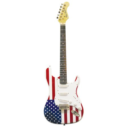 Main Street MEDCAF Double Cut-Away Electric Guitar With American Flag Body