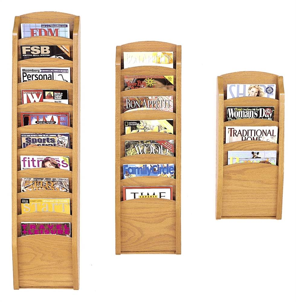 3 Pc Pocket Magazine Rack Set (Black) by Lesro Industries, Inc.