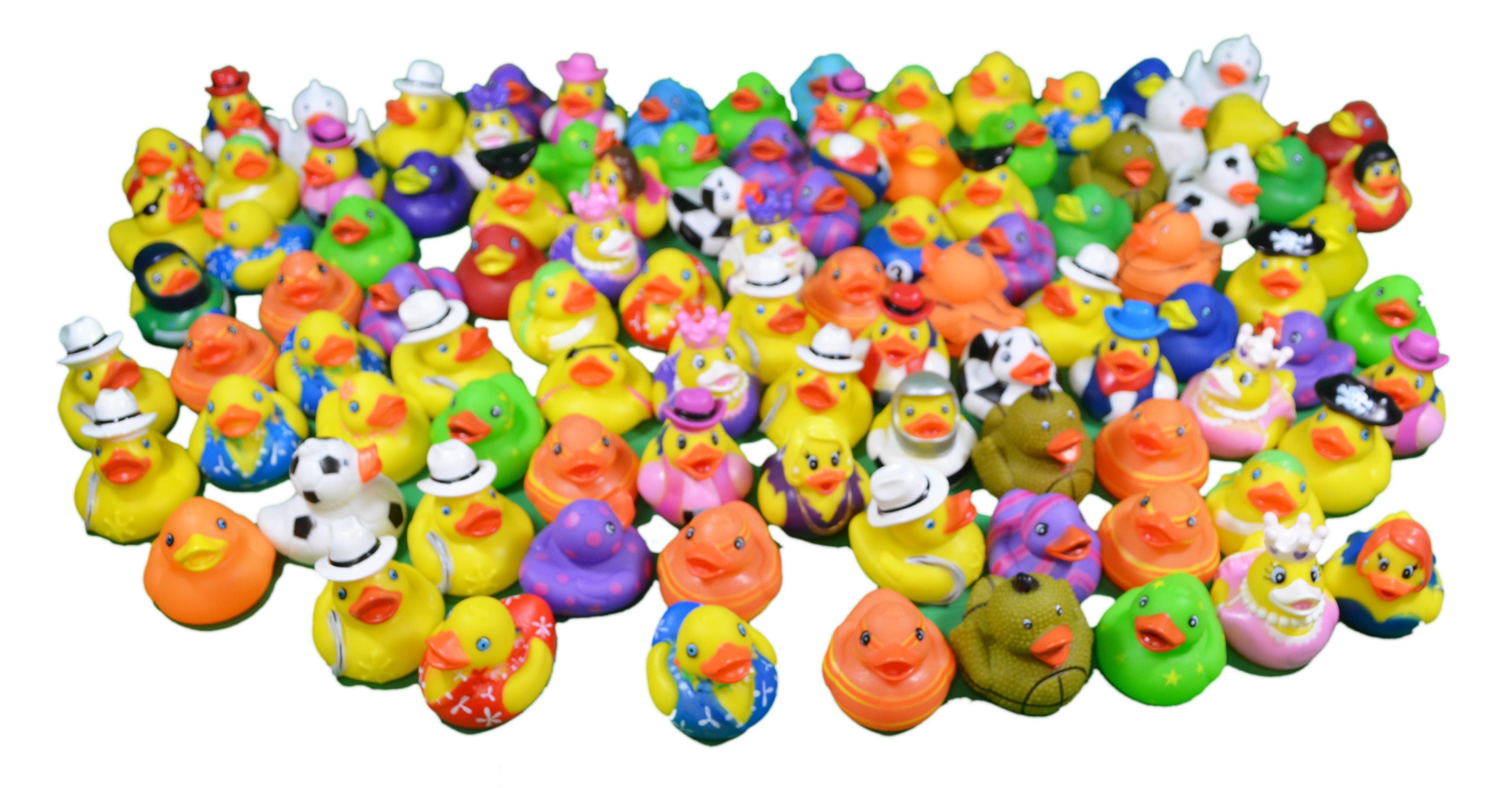 Huge Mega Lot 100 Mini Rubber Ducks Party Favors Carnival Fundraiser ...