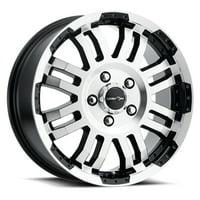 "Vision 375 Warrior Van 16x6.5 6x130 +45mm Black/Machined Wheel Rim 16"" Inch"