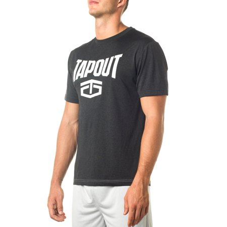 """Official WWE Authentic Tapout Black Heather """"Wrecking Crew"""" T-Shirt  Small"""