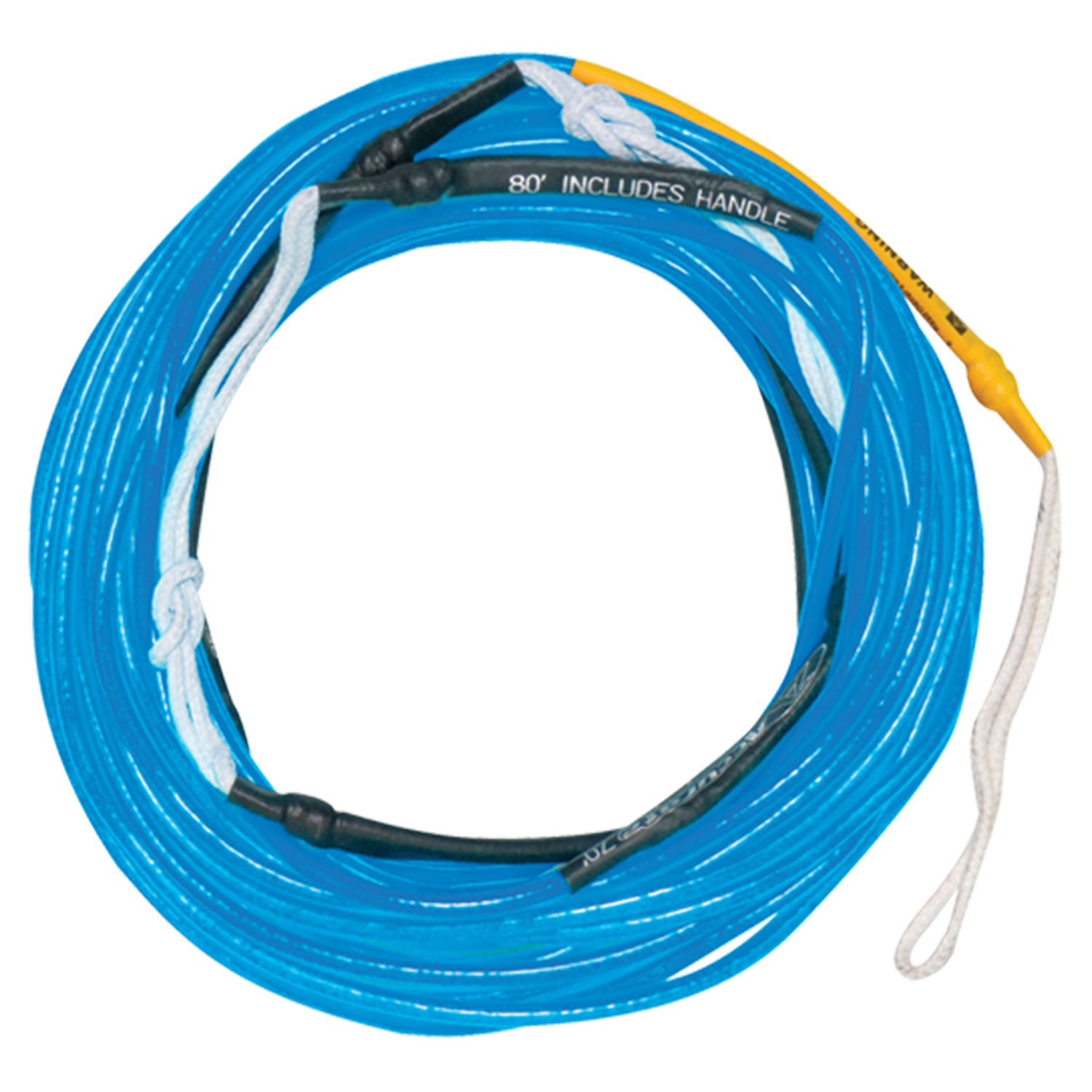 Hyperlite 2016 80 ft Silicone A-Line (Neon Blue) Wakeboard Rope by Hyperlite