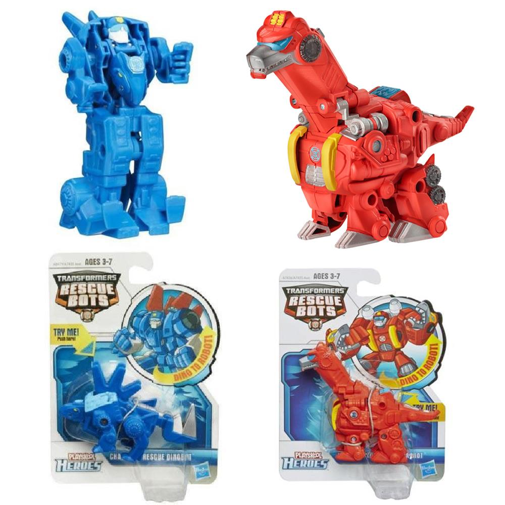 Playskool Transformers Rescue Bots 2PK Heatwave Chase Dinobots Autobots Figures Hasbro... by Playskool