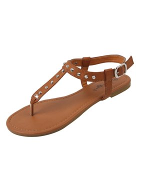 e33c8e7ff37 Product Image New Starbay Women s Studded Brown Gladiator Sandals Flats  Size 5
